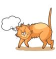 Cute cartoon cat dreams vector