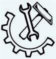 Spanner and hammer vector