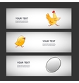 Three simple sticker egg chicken chicken vector