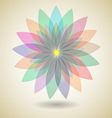 Colorful flower with shadow background vector