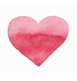 Isolated watercolor red heart vector