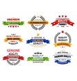 Flat banners emblems and labels vector