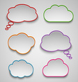 Pointers like colored clouds template vector