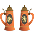 Ancient beer mugs vector