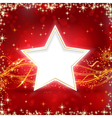 Red golden christmas star background vector