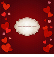Red hearts and vintage label vector