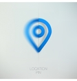Map marker blue location pin vector