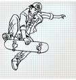Skater sketch vector