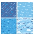 Seamless patterns with planes vector