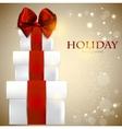 Elegant christmas gifts background vector