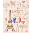 Hand drawn paris vector