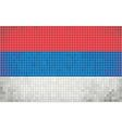 Mosaic flag of serbia vector