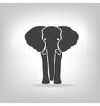 Gray emblem of an elephant on a light background vector