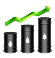 Rising oil price concept vector