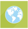 Hand drawn earth with shadow on green background vector