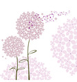 Abstract springtime purple hydrangea flower vector