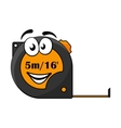 5 metre or 16 foot long tape measure vector