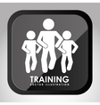 Training button design vector