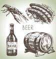 Oktoberfest set of beer hand drawn vector