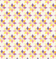 Classic purple and yellow flower pattern on pastel vector