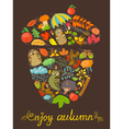 Autumn card vector