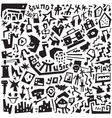 Music - doodles set vector