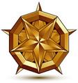 Sophisticated golden star emblem 3d decorative vector