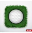 Icon symbol golf ball in green grass vector
