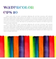 Watercolor template vector