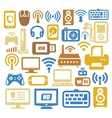 Electronic devices icon set vector