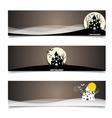 Happy halloween design background vector