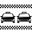 Black taxi cars vector