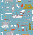 Seamless pattern with adverture aquipment vector