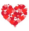 St valentines heart shape design vector