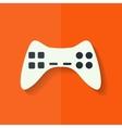Joystick web icon flat design vector