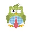 Owl with tie vector