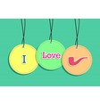 Hanging hipster badges vector
