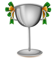 A gray cup with ribbons vector