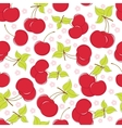 Cute seamless background with cherry vector