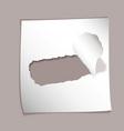 Torn paper background vector