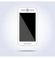 White phone on white background vector