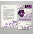 Template with purple triangles vector