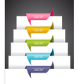 Ribbons over the paper vector