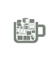 Book a cup vector