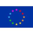 European gay flag vector