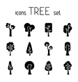 Set of 12 tree icons vector