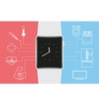 Smart wristwatch vector