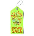 Autumn sale tag vector