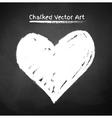 Chalked heart vector