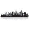 London city skyline silhouette vector